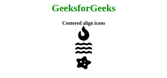 How To Target All Font Awesome Icons And Align Them Center Geeksforgeeks