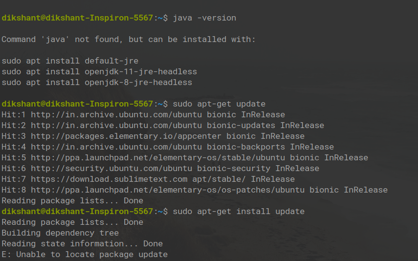 updating Linux system