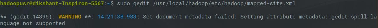mapred-site.xml file configuration