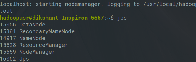 using jps command