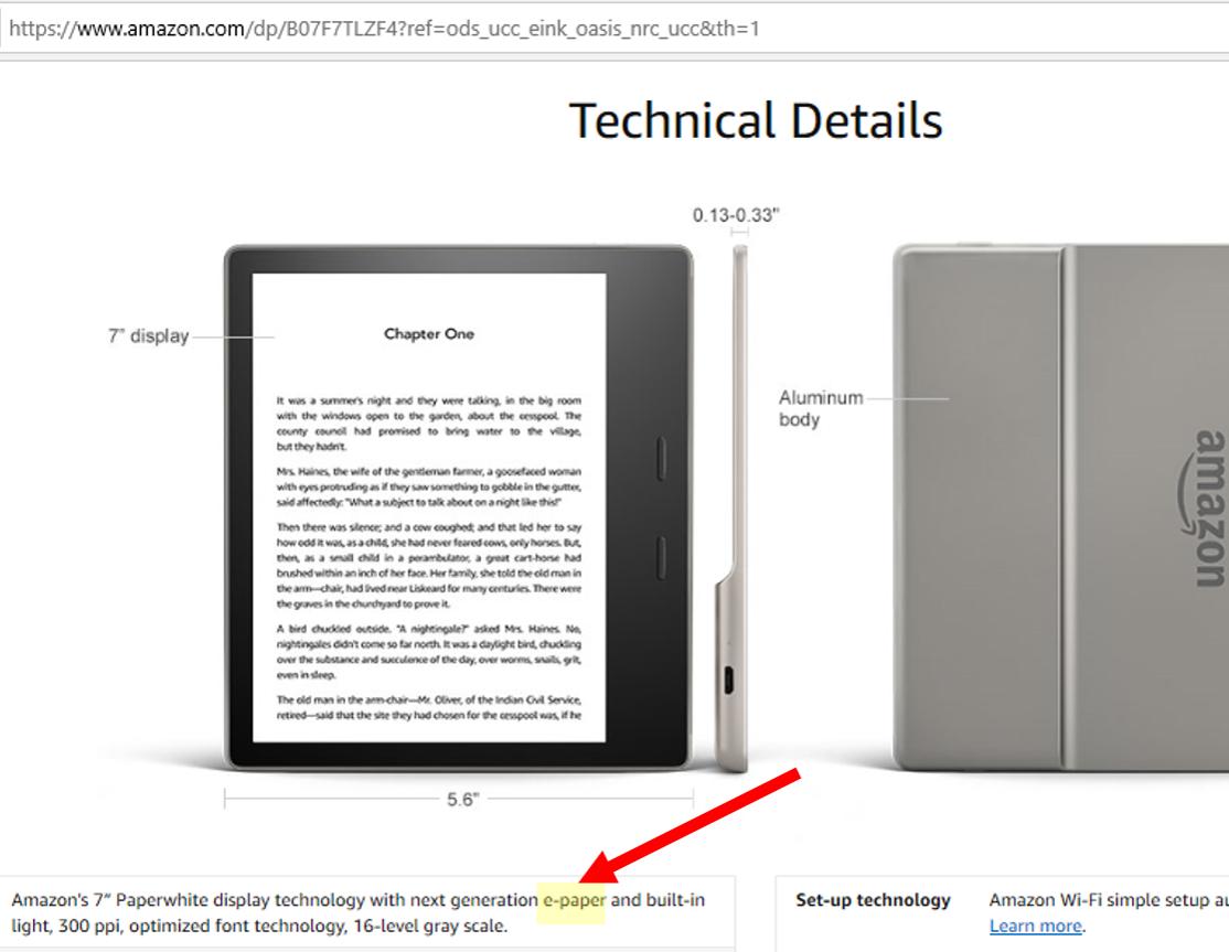 Technical Details Kindle