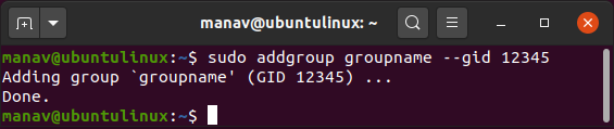 To-add-a-new-group-with-specified-group-id