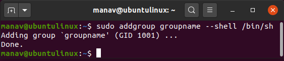 To-create-a-group-with-a-specific-shell