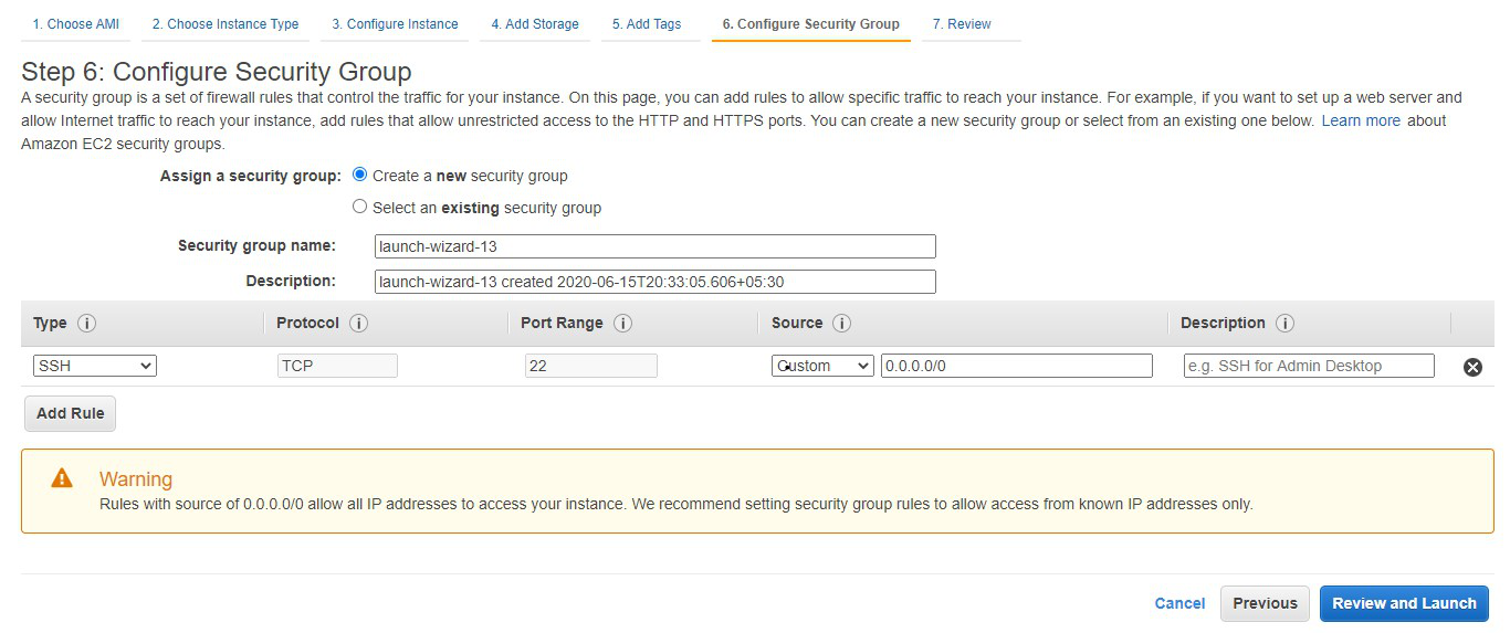 aws configure security