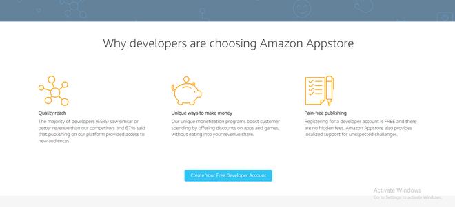 Creating Free Developer's Account on Amazon App Store