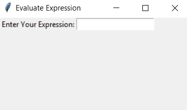 Evaluate expression gui