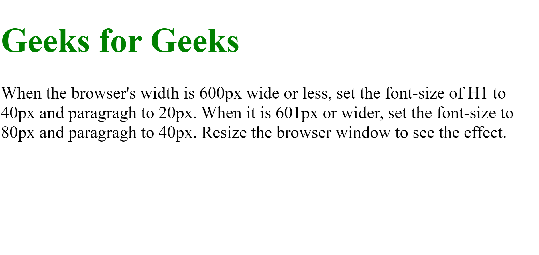 Font scale on desktop using media query