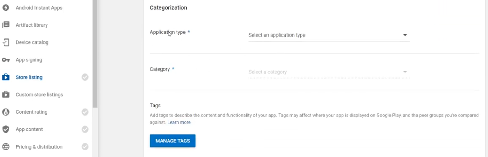 application-type-and-category