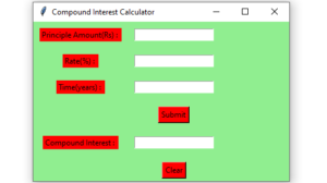 Compound Interest gui Calculator - 1