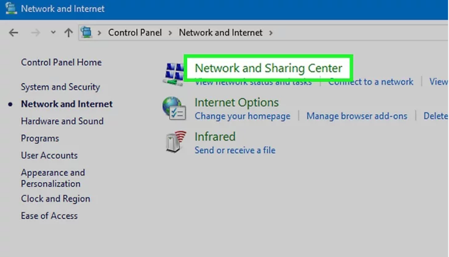 Open Networks and Sharing Center