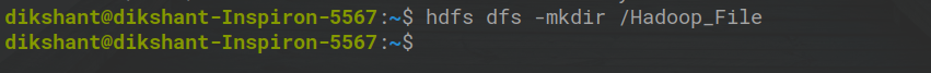 making a directory in HDFS