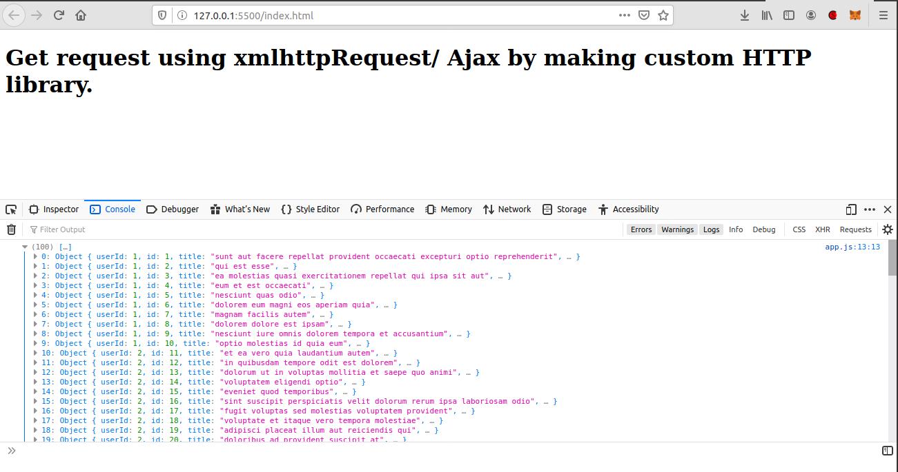 Get json data from url using jquery ajax