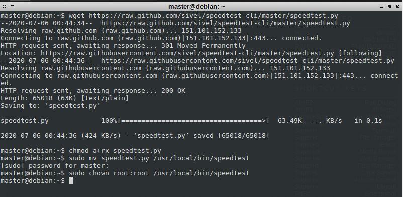 Install Speedtest_cli