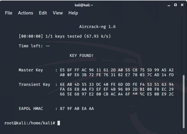 cracking password from handshake file