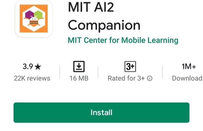 Installa app MIT AI2 Companion