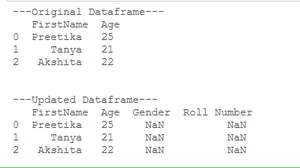 add empty column to dataframe-2