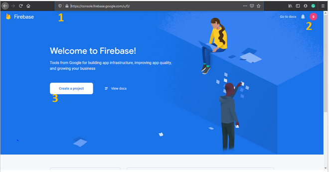 Create a Firebase Project