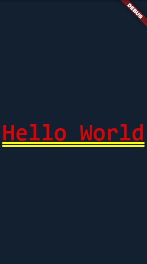 hello world in flutter
