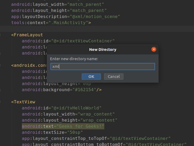 create new xml file
