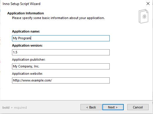 Fill application form