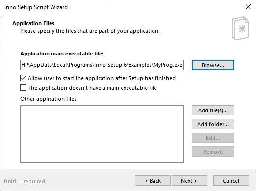 Add files and folders