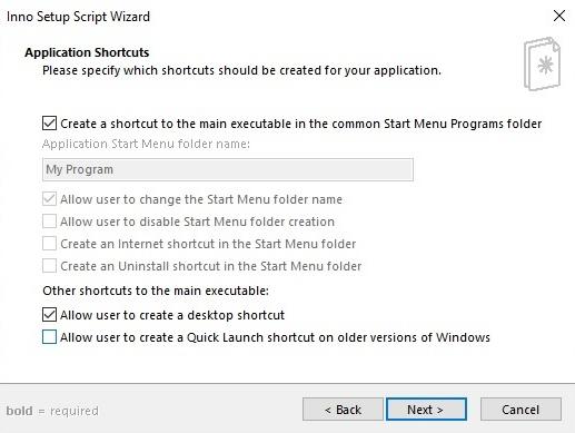 Applicatiom Shortcuts
