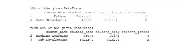 divide dataframe
