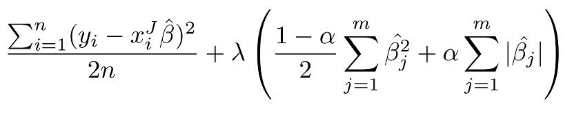 formula elastic net