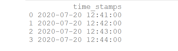time stamp object