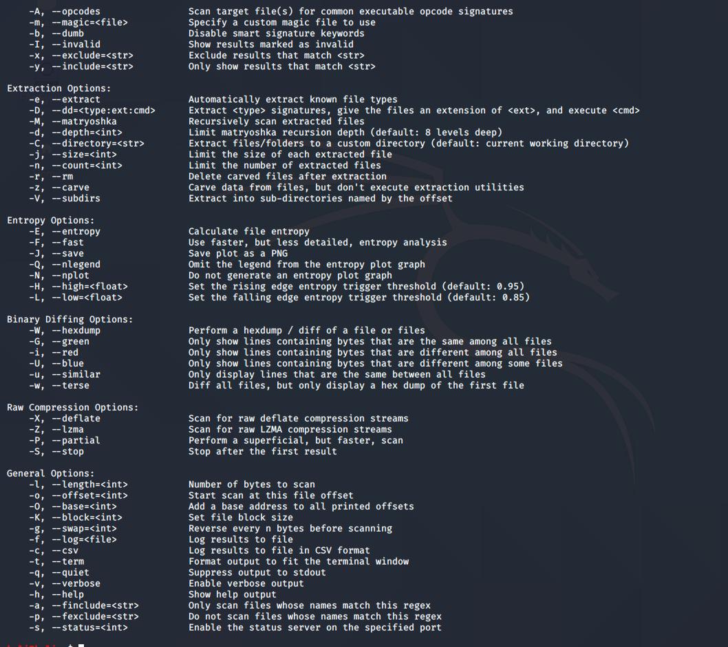 binwalk tool in linux