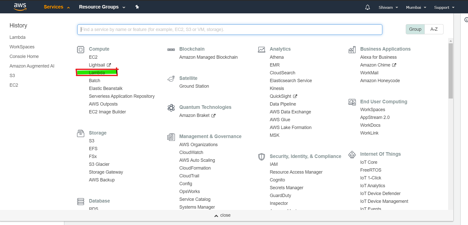 Configuring AWS Lambda - 1