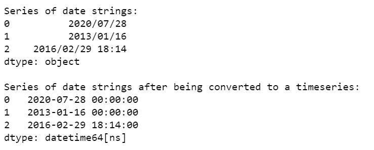 date string to time series conversion-1