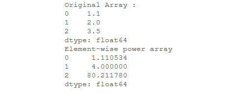 element-wise power array - 1