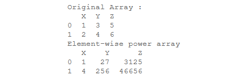 element-wise power array - 2