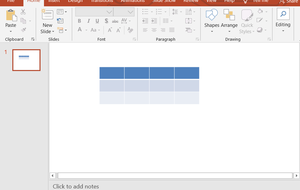 Adding table to the powerpoint