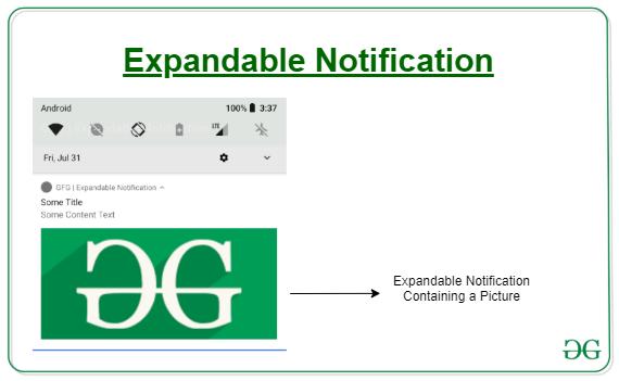 expandable notification