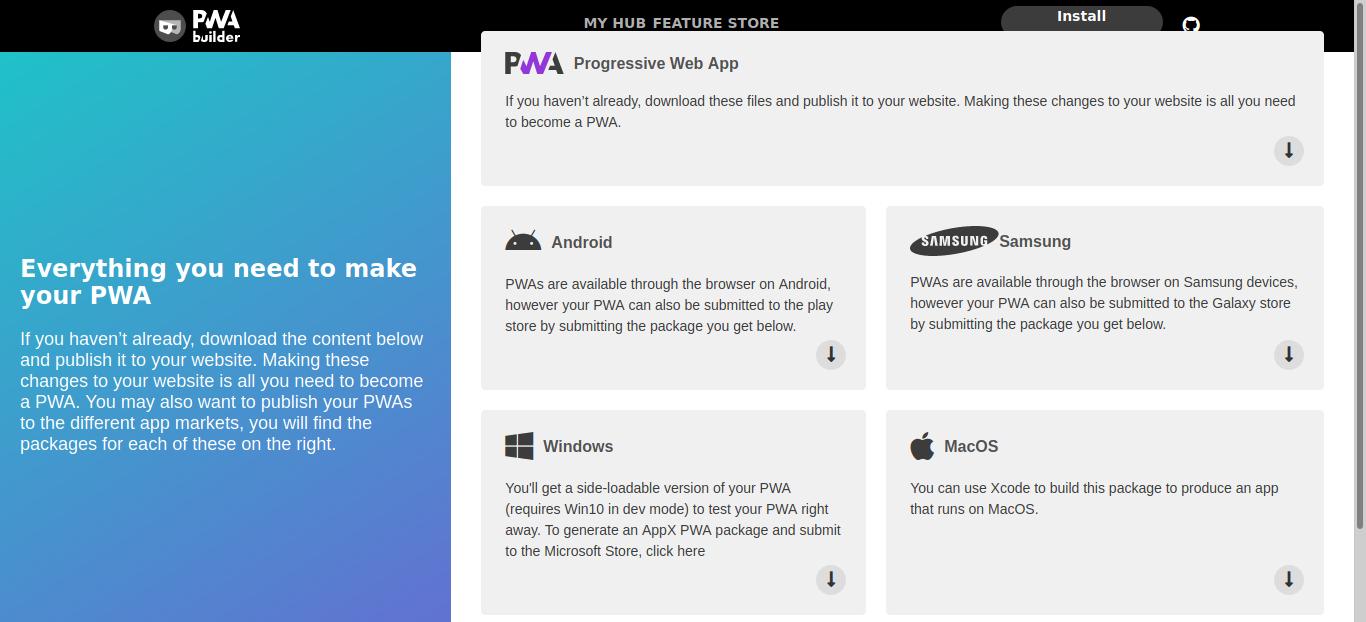 PWA Builder By Microsoft