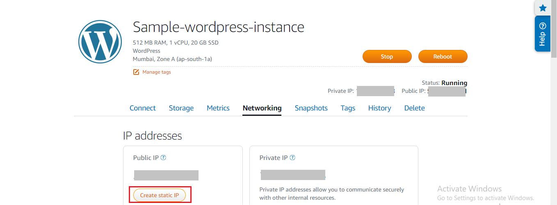 create static IP