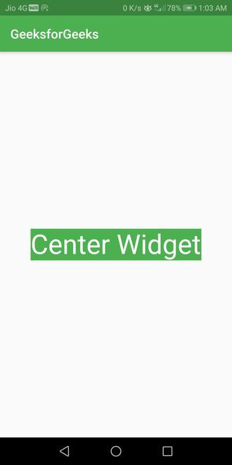 center align widget