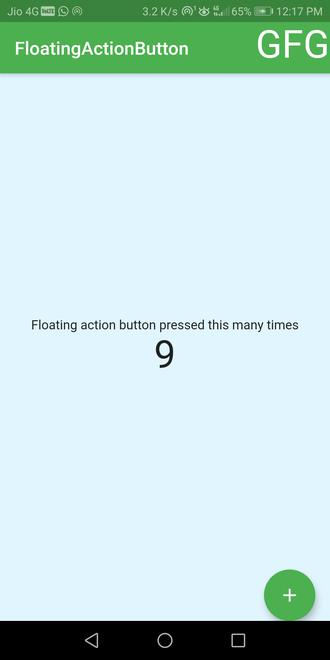 floatingactionbutton with counter