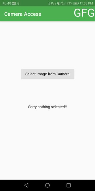 camera access button