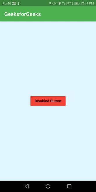 disabled raisebutton