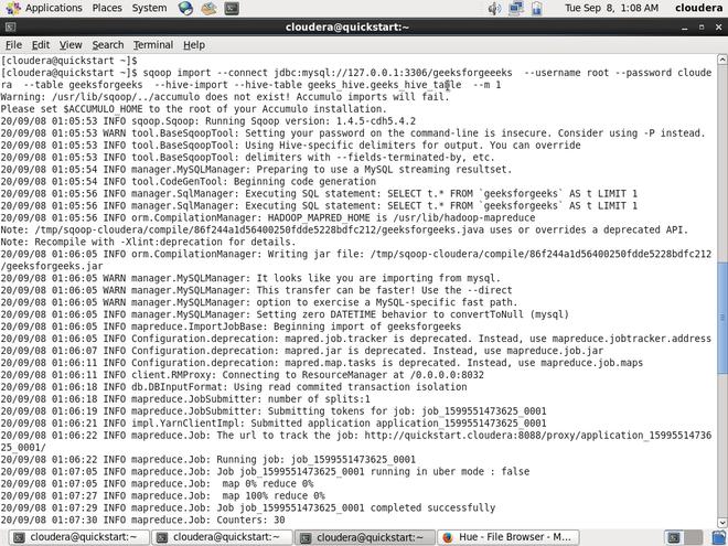 import command on Hadoop