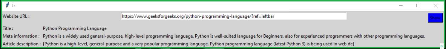 extracting information from article using Python