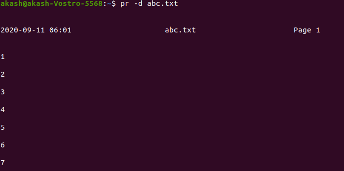 pr command in linux