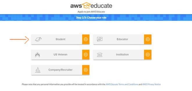 aws educate role