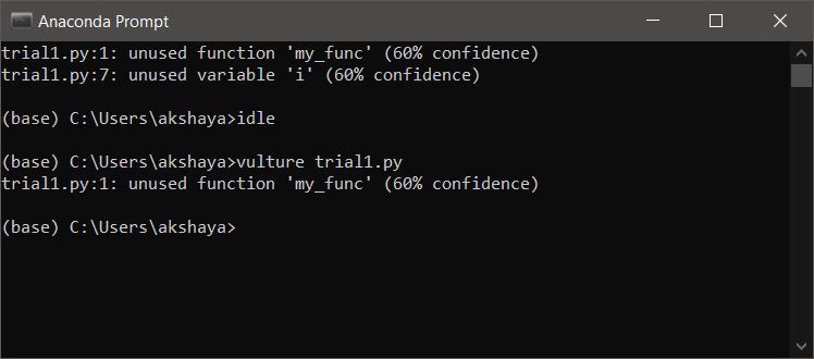 vulture module-dead code check