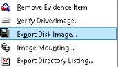 Export Forensic Images
