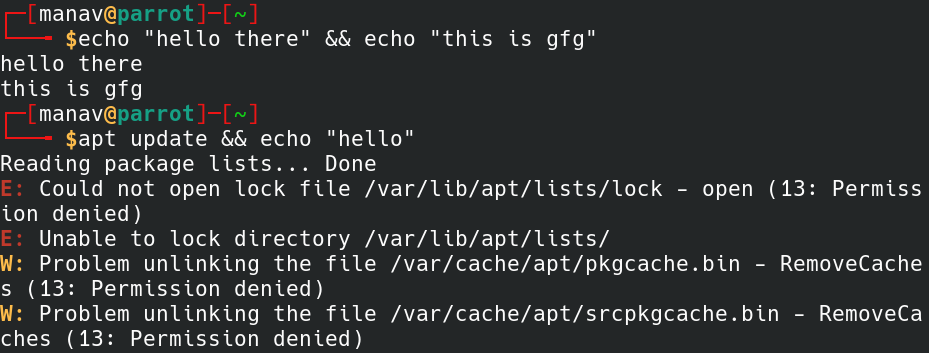 AND chaining operator